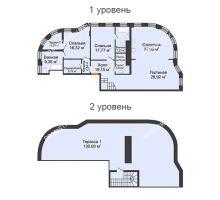 3 комнатная квартира 148,6 м² в ЖК Плотничный, дом № 2 - планировка