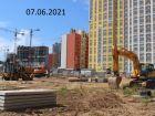 Ход строительства дома № 10 в ЖК Новая Кузнечиха - фото 8, Июнь 2021