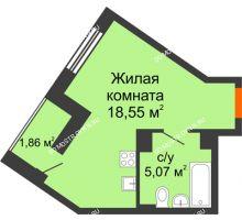 Студия 25,48 м² - ЖК Пушкин