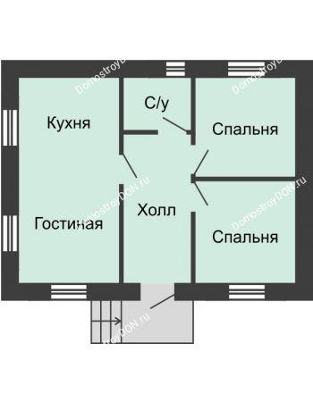 3 комнатная квартира 48 м² в КП Красный сад, дом Тип 1, 48 м²