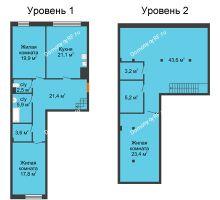 3 комнатная квартира 160,1 м², Клубный дом Green Вита (Грин Вита) - планировка