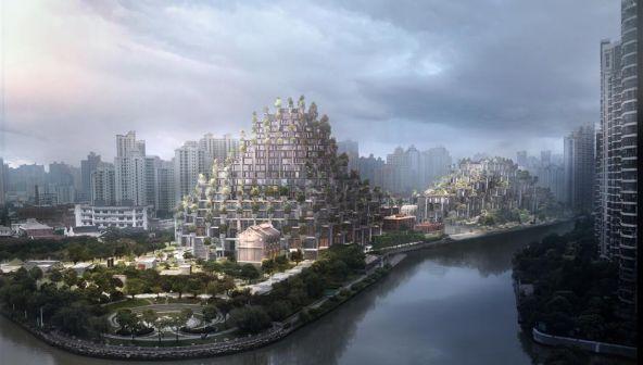 Торговый комплекс «1000 деревьев» - восьмое чудо света в Шанхае (Китай)