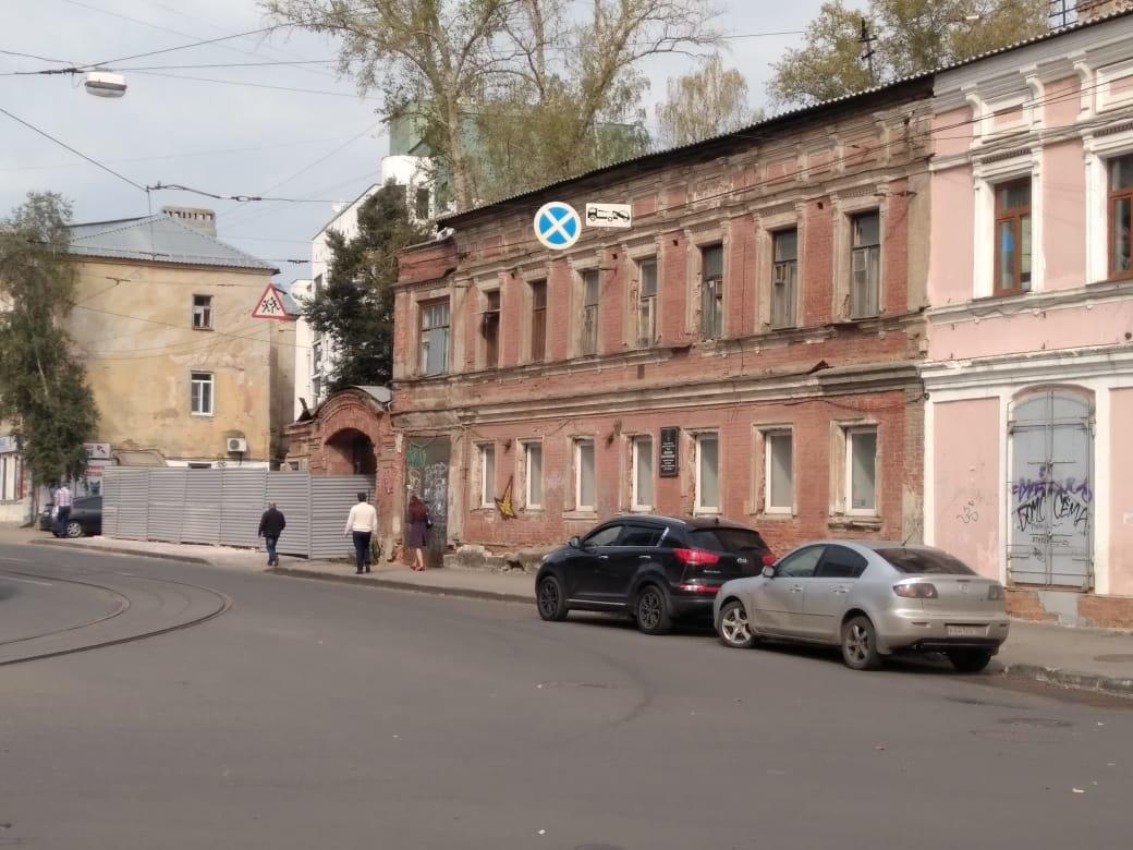 Часть усадьбы П.Н.Соколовой сносится вопреки рекомендациям Управления госохраны ОКН сохранить здание
