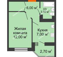 1 комнатная квартира 29,6 м² в ЖК Вересаево, дом Литер 11 - планировка