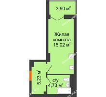 Студия 26,93 м² в ЖК Аврора, дом № 3 - планировка
