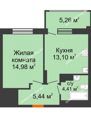 1 комнатная квартира 39,51 м² в ЖК Маленькая страна, дом № 4