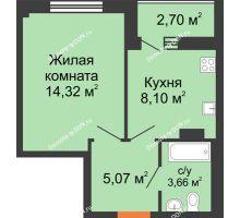 1 комнатная квартира 32,7 м², ЖК Дом на 14-й Линии - планировка