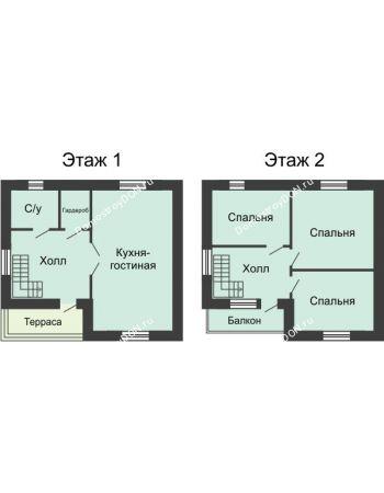 3 комнатная квартира 112 м² в КП Красный сад, дом Тип 3, 112 м²