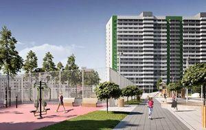 Скидки до 300 000 ₽<br> Квартиры от 19 м² до 103 м²<br> Школа и детский сад в шаговой доступности.