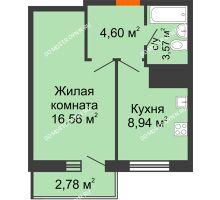 1 комнатная квартира 36,45 м² - ЖК Комарово