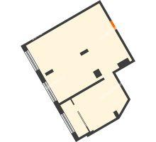 2 комнатная квартира 73,2 м² в ЖК АТЛАНТ СИТИ, дом №2 - планировка