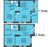 3 комнатная квартира 107,75 м² в ЖК Октябрьский, дом ГП-3 - планировка