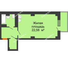 Студия 40,5 м² в ЖК Сокол Градъ, дом Литер 6 - планировка