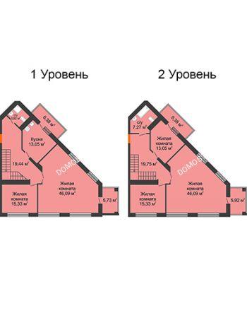 5 комнатная квартира 207,67 м² - ЖК Командор