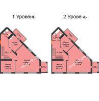 5 комнатная квартира 207,67 м², ЖК Командор - планировка