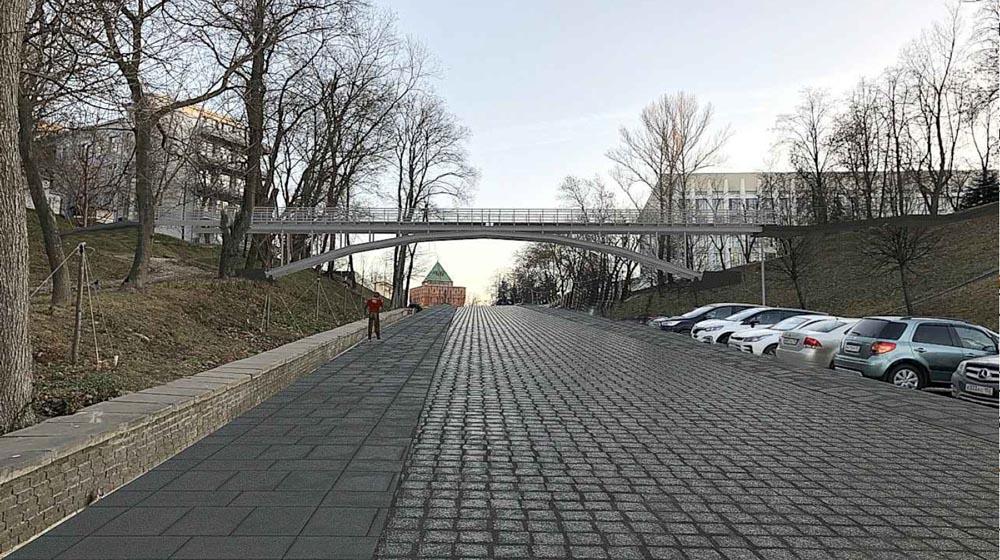 В Нижегородском кремле собираются построить пешеходный мост через Ивановский съезд