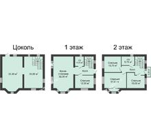 6 комнатная квартира 193 м² в КП Всевеликого Войска Донского, дом № 2, 193 м² - планировка