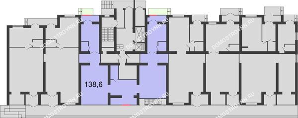 Планировка 1 этажа в доме № 3 в ЖК Удачный