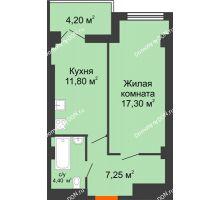 1 комнатная квартира 43,6 м² - ЖК Уютный дом на Мечникова