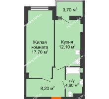 1 комнатная квартира 44,5 м² - ЖК Уютный дом на Мечникова