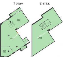 1 комнатная квартира 260 м², ЖК ROLE CLEF - планировка