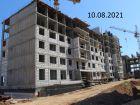 Ход строительства дома № 25 в ЖК Новая Кузнечиха - фото 1, Август 2021
